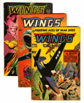 Golden Age (1938-1955):War, Wings Comics Group (Fiction House, 1945-54) Condition: AverageVG-.... (Total: 7 Comic Books)