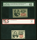 Fractional Currency:Fifth Issue, Fr. 1265 10c Fifth Issue PCGS Apparent Choice New 63. Fr. 1309 25c Fifth Issue PMG Uncirculated 62 EPQ.. ... (Total: 2 notes)