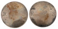 Military & Patriotic:Revolutionary War, Two 18th Century Silver Buttons Identified to Connecticut Signer ofthe Declaration of Independence, Roger Sherman.... (Total: 2 Items)