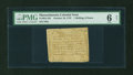Colonial Notes:Massachusetts, Paul Revere Printed Massachusetts October 16, 1778 1s/6d PMG Good 6Net....