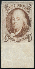 Stamps, 5c Grayish Brown (1a),... (Total: 1 Slab)