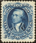 Stamps, 90c Blue, Re-Issue (111),... (Total: 1 Slab)