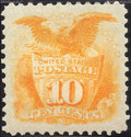 Stamps, 10c Yellow, Re-Issue (127),... (Total: 1 Slab)