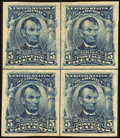Stamps, 5c Blue, Imperforate (315),...