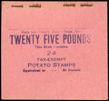 Stamps, 1935, 25 lb. Potato Tax, Provisional Booklet (RI17a),...