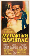 "Movie Posters:Western, My Darling Clementine (20th Century Fox, 1946). Three Sheet (41"" X 81"").. ..."