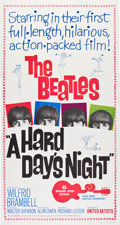 "Movie Posters:Rock and Roll, A Hard Day's Night (United Artists, 1964). Three Sheet (41"" X81"").. ..."