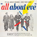 "Movie Posters:Drama, All About Eve (20th Century Fox, 1950). Six Sheet (81"" X 81"").. ..."