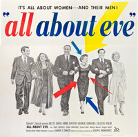 """All About Eve (20th Century Fox, 1950). Six Sheet (81"""" X 81"""")"""