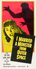 """Movie Posters:Science Fiction, I Married a Monster from Outer Space (Paramount, 1958). Three Sheet(41"""" X 81"""").. ..."""