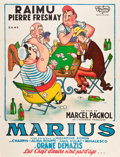 "Movie Posters:Drama, Marcel Pagnol's Fanny Trilogy (Les Films Marcel Pagnol, R-1952). French Grandes (3) (47"" X 63""). ""Marius,"" ""Fanny,"" and ""Cés... (Total: 3 Items)"