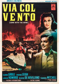 "Movie Posters:Romance, Gone with the Wind (MGM, R-1950). Italian 2 - Folio (38"" X 55"")....."