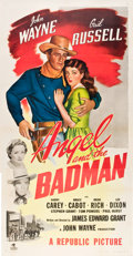 "Movie Posters:Western, Angel and the Badman (Republic, 1947). Three Sheet (41"" X 81"")....."