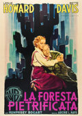 """Movie Posters:Crime, The Petrified Forest (Warner Brothers, R-1951). Italian 4 - Folio (55"""" X 78"""").. ..."""