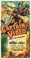 "Movie Posters:Serial, Captain Video, Master of the Stratosphere (Columbia, 1951). ThreeSheet (41"" X 81"").. ..."