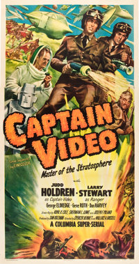 "Captain Video, Master of the Stratosphere (Columbia, 1951). Three Sheet (41"" X 81"")"