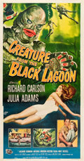 "Movie Posters:Horror, Creature from the Black Lagoon (Universal International, 1954). Three Sheet (41"" X 81"").. ..."