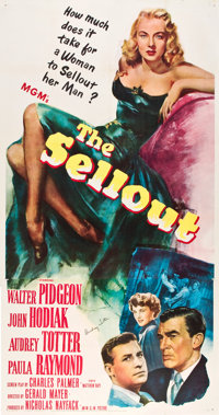 "The Sellout (MGM, 1952). Autographed Three Sheet (41"" X 81"")"