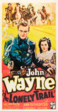 "Movie Posters:Western, The Lonely Trail (Republic, 1936). Three Sheet (41"" X 81"").. ..."