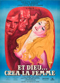 "Movie Posters:Drama, And God Created Woman (Cocinor, 1956). French Grande (47"" X 63"").. ..."
