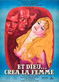 """And God Created Woman (Cocinor, 1956). French Grande (47"""" X 63"""")"""