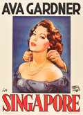 "Movie Posters:Adventure, Singapore (Universal International, 1947). Italian 2 - Folio (39"" X55"").. ..."
