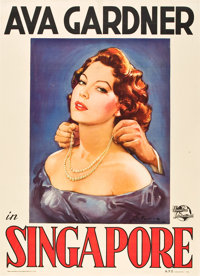 "Singapore (Universal International, 1947). Italian 2 - Folio (39"" X 55"")"