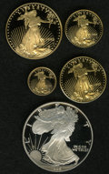 Proof Sets: , An Uncertified 1995-W 10th Anniversary American Eagle Proof Set. This set contains the key date of the silver eagle series, ... (Total: 5 Coins)