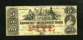 Obsoletes By State:Tennessee, Memphis, TN- Farmers' and Merchants' Bank $5 Mar. 1, 1854. ...