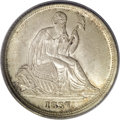 Seated Dimes, 1837 10C No Stars, Small Date MS64 PCGS....