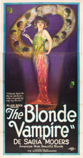 "Movie Posters:Drama, The Blonde Vampire (Gunning Organization, 1922). Three Sheet (41"" X81"").. ..."