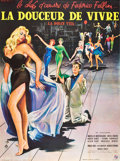 "Movie Posters:Drama, La Dolce Vita (Consortium Pathe, 1960). French Grande (47"" X 63"")....."