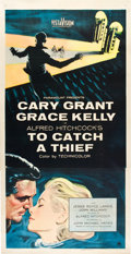 "Movie Posters:Hitchcock, To Catch a Thief (Paramount, 1955). Three Sheet (41"" X 81"").. ..."