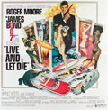 """Movie Posters:James Bond, Live and Let Die (United Artists, 1973). Six Sheet (81"""" X 81"""")....."""