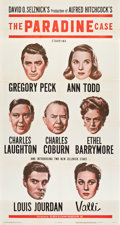 "Movie Posters:Hitchcock, The Paradine Case (Selznick, 1948). Three Sheet (41"" X 81"").. ..."