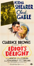 """Movie Posters:Comedy, Idiot's Delight (MGM, 1939). Three Sheet (41"""" X 81"""") Style B.. ..."""