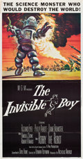 "Movie Posters:Science Fiction, The Invisible Boy (MGM, 1957). Three Sheet (41"" X 81"").. ..."