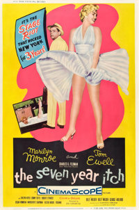 "The Seven Year Itch (20th Century Fox, 1955). Poster (40"" X 60"") Style Y"