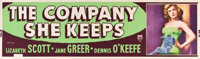 "The Company She Keeps (RKO, 1951). Banner (24"" X 82"")"