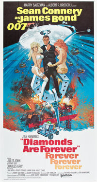 """Diamonds are Forever (United Artists, 1971). Three Sheet (41"""" X 81"""")"""