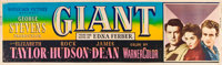 "Giant (Warner Brothers, 1956). Banner (24"" X 82"")"