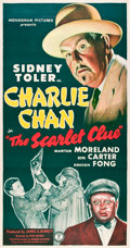 "Movie Posters:Mystery, The Scarlet Clue (Monogram, 1945). Three Sheet (41"" X 81"").. ..."