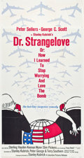 "Movie Posters:Comedy, Dr. Strangelove or: How I Learned to Stop Worrying and Love theBomb (Columbia, 1964). Three Sheet (41"" X 81"").. ..."