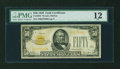 Small Size:Gold Certificates, Fr. 2404 $50 1928 Gold Certificate. PMG Fine 12.. ...