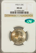 Washington Quarters, 1932-S 25C MS64 NGC. CAC....