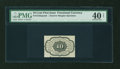 Fractional Currency:First Issue, Fr. 1243SP 10c First Issue Narrow Margin Back PMG Extremely Fine 40 Net....
