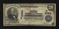National Bank Notes:Kentucky, Princeton, KY - $20 1902 Plain Back Fr. 650 The First NB Ch. #(S)3064. ...