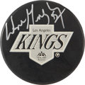 Hockey Collectibles:Others, Wayne Gretzky UDA Signed Puck. ...