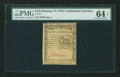 Colonial Notes:Continental Congress Issues, Continental Currency February 17, 1776 $1/2 PMG Choice Uncirculated64 EPQ....