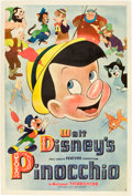 "Movie Posters:Animated, Pinocchio (RKO, 1940). Poster (40"" X 60"") Style A.. ..."